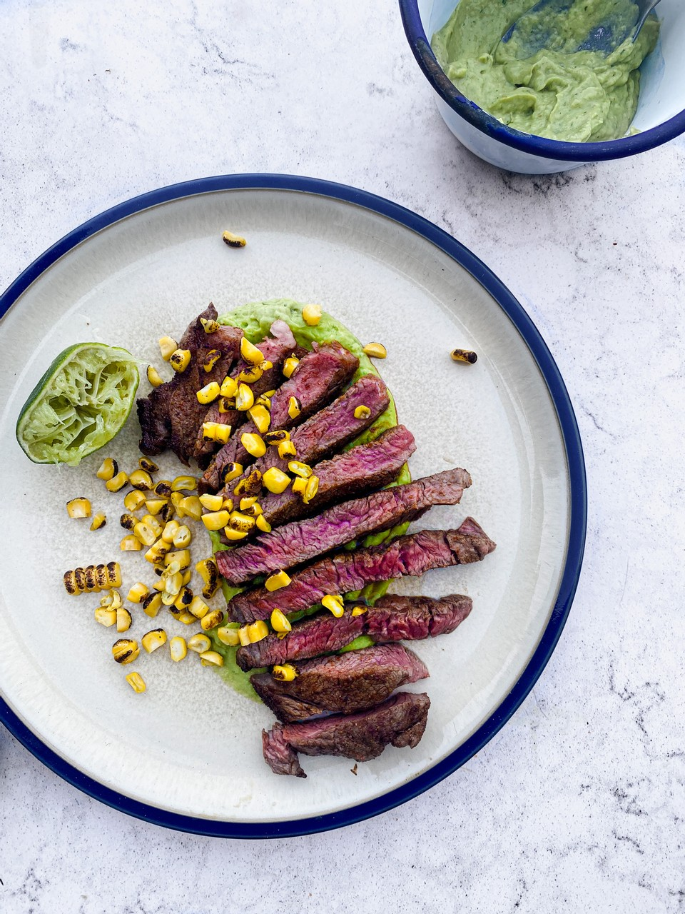 Spiced Rubbed Steak With Corn & Avocado