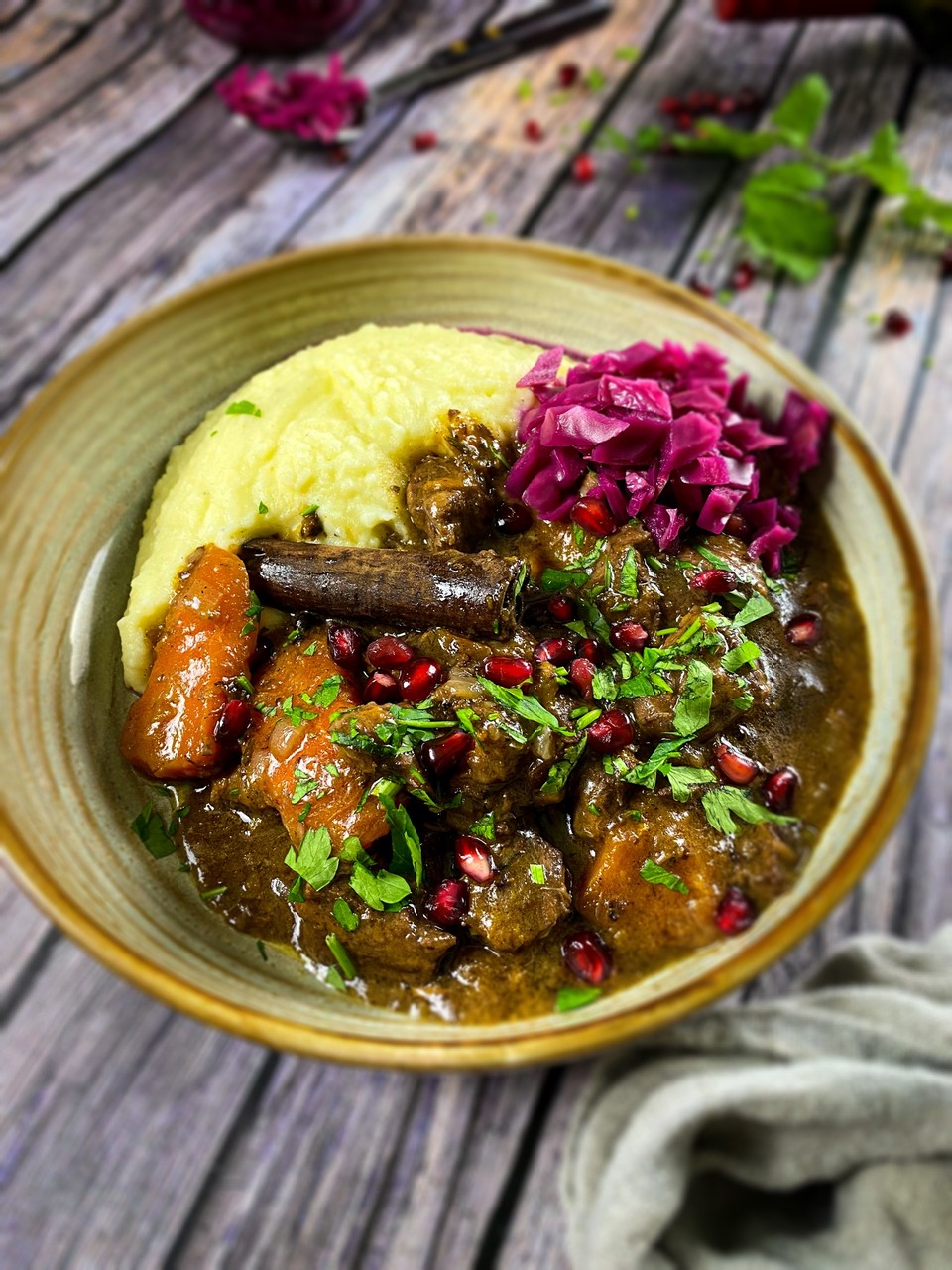 Mulled Wine Lamb Stew
