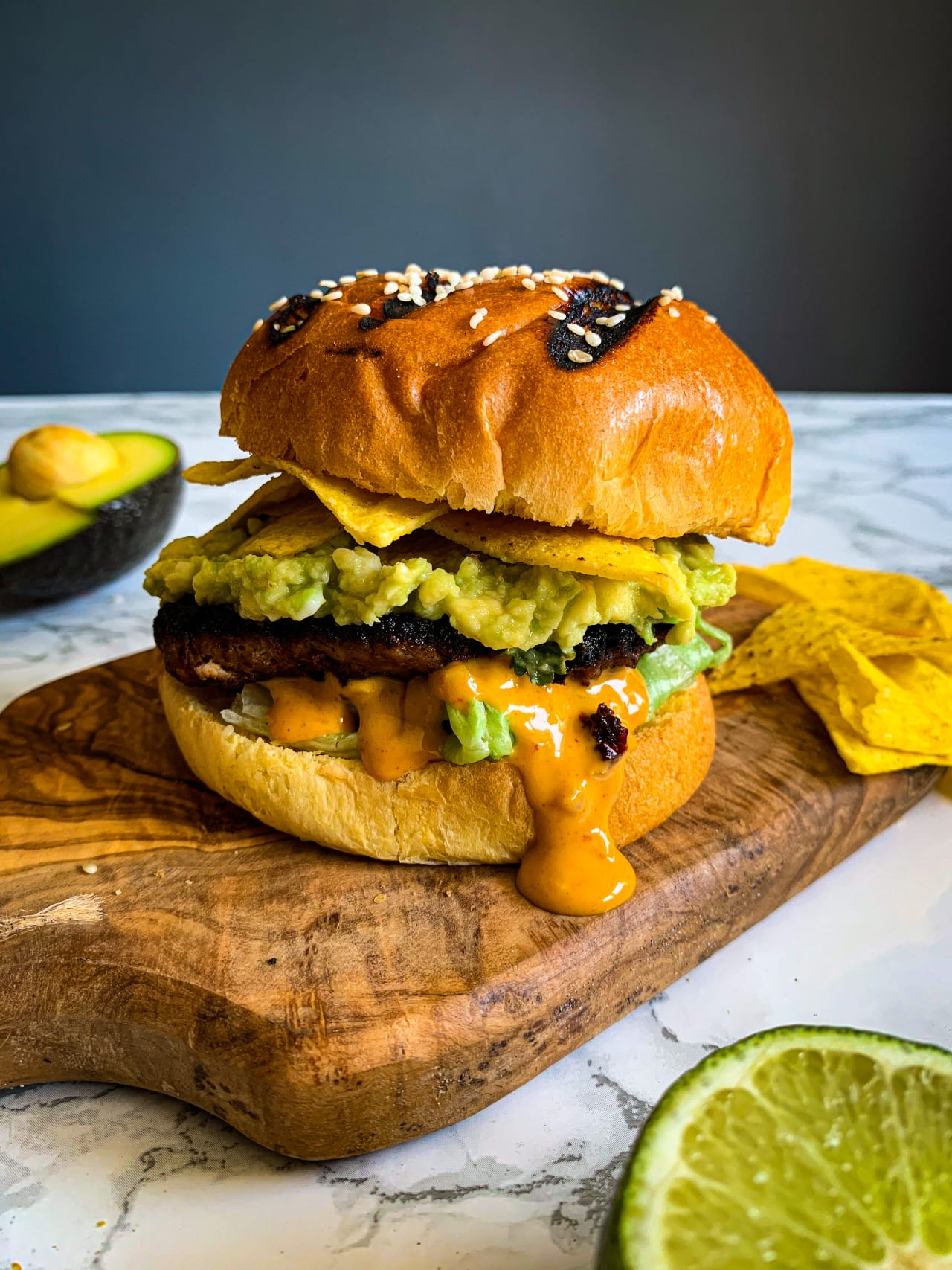 Chipotle Turkey Burger With Crushed Avocado