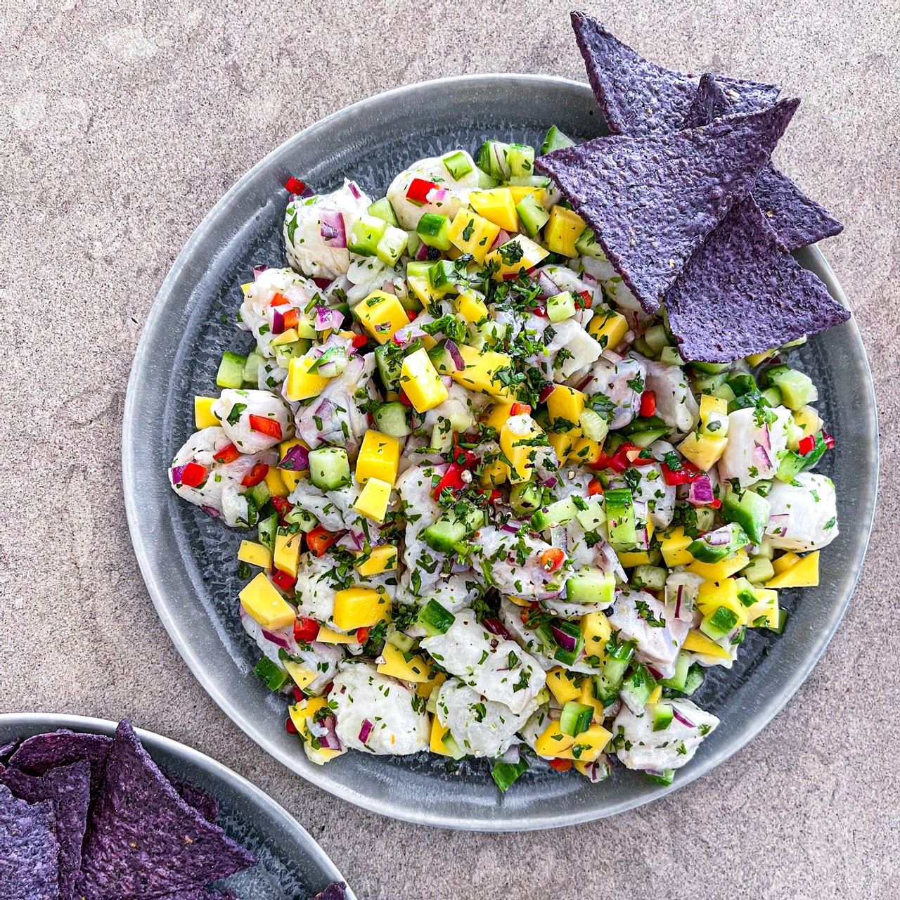 Ceviche with Mango and Cucumber