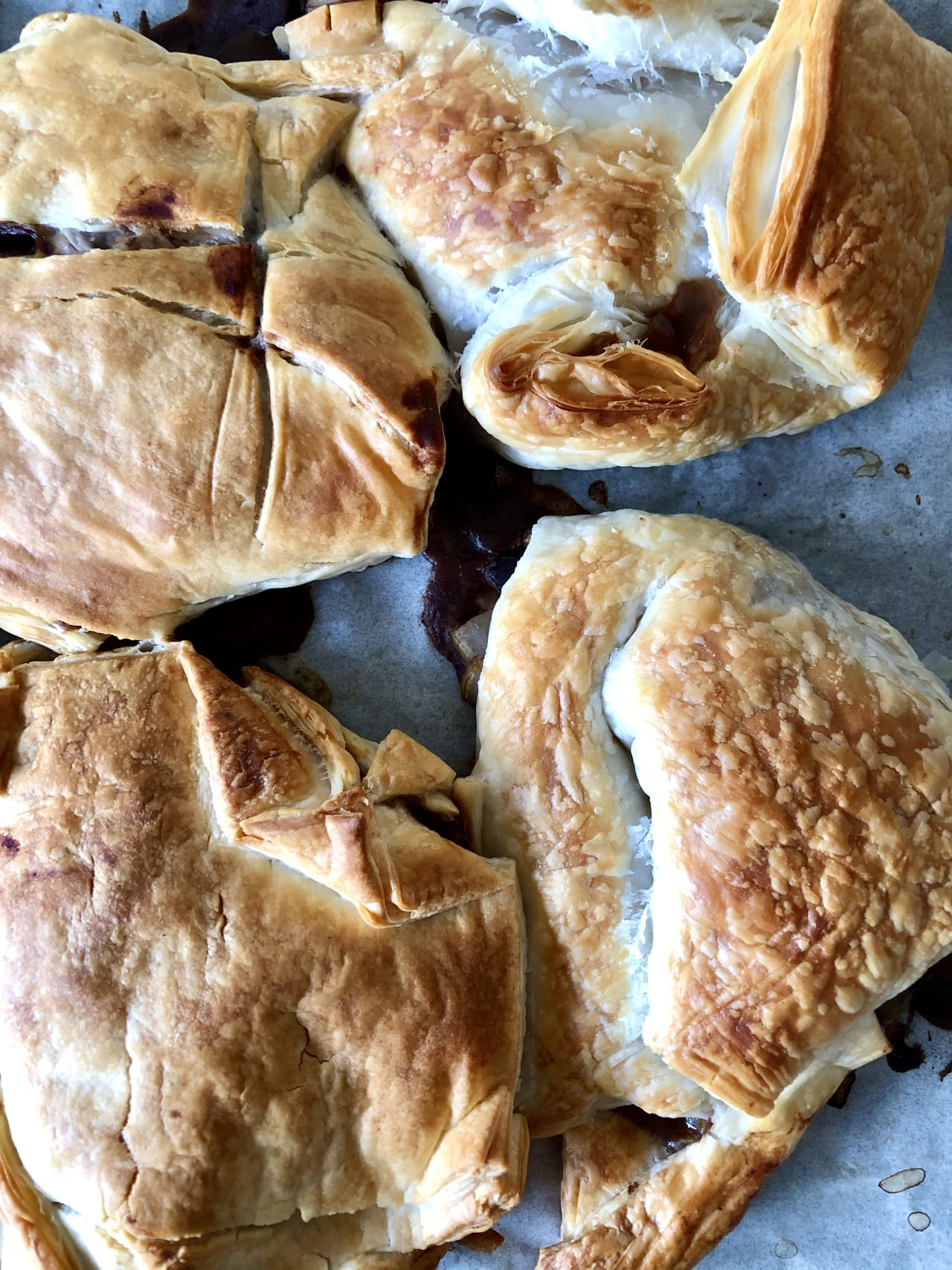Black Bean and Celery Fenugreek Filled Puff Pastries