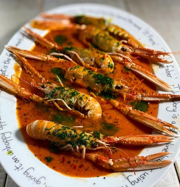 Langoustines in a Fennel and Tomato Broth