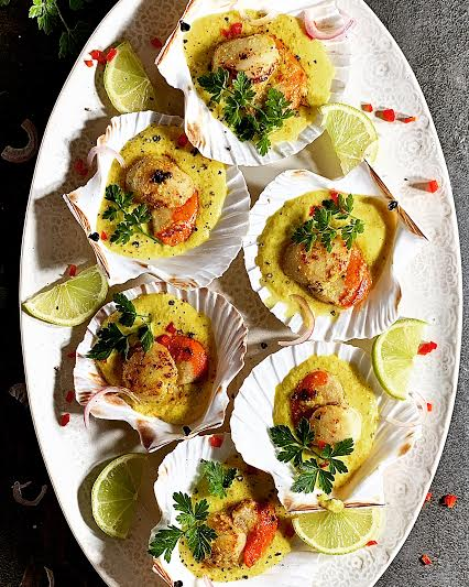 Indonesian Spiced Scallops