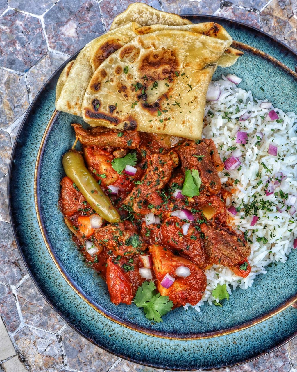Slow Cooker Curry with Chapati
