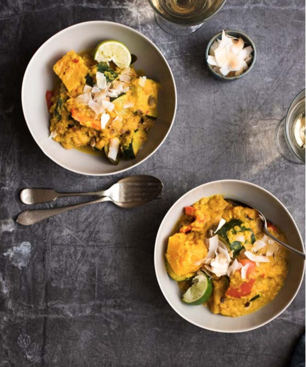 Malaysian Squash and Courgette Rendang