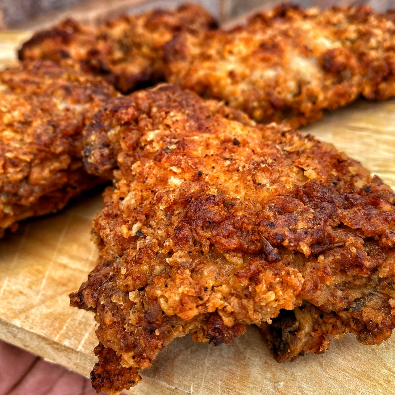 Homemade Jerk Fried Chicken
