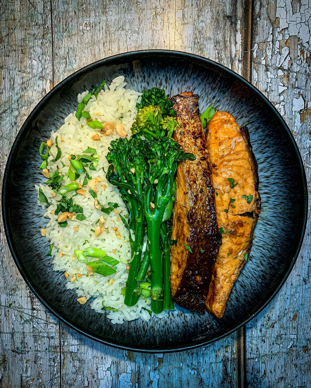 Asian Style Salmon with Coconut Rice