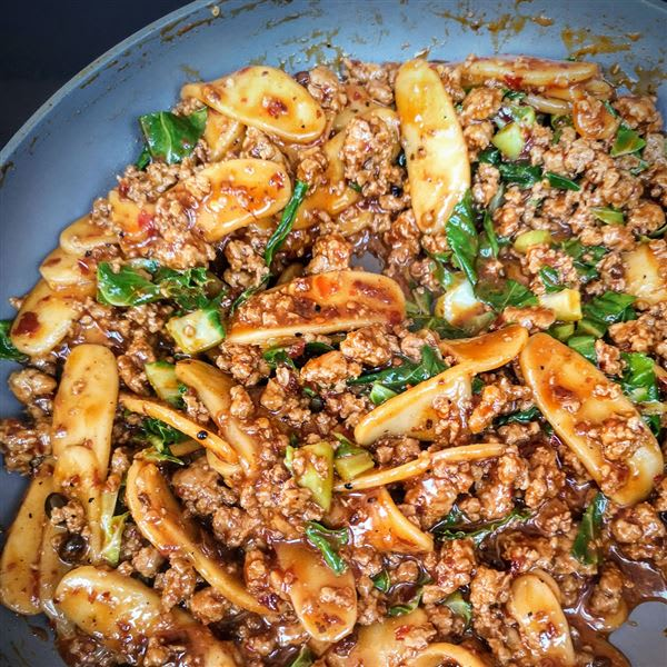 Mala Pork Ragu with Foochow Rice Cakes