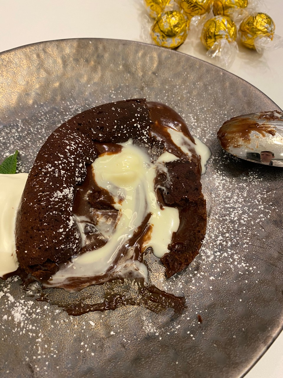 Chocolate Fondant with a White Choc Centre