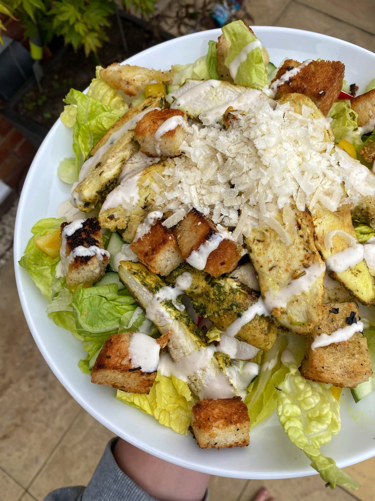 Easy Caesar Salad With Homemade Croutons