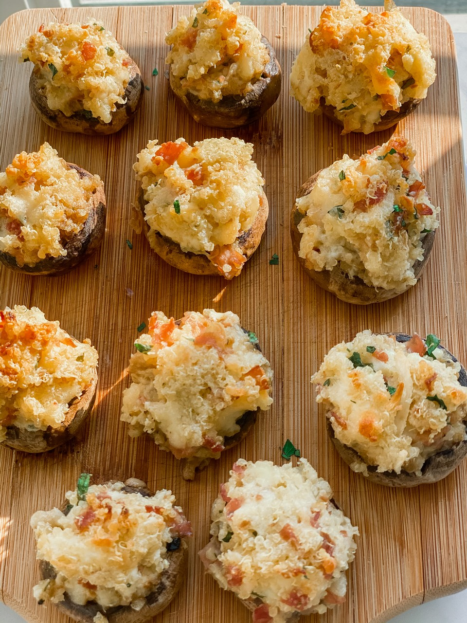 Quinoa Stuffed Mushrooms