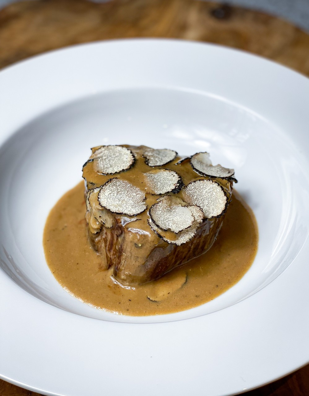 Fillet Steak with Summer Truffle and Porcini Sauce